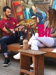 """Ο Γιώργος κατά τη διάρκεια της συνέντευξης στην εκπομπή """"Όλα για σένα"""" με την Κωνσταντίνα Ευριπίδου - 17 Οκτωβρίου 2017 Φωτογραφία: ShowBiz"""