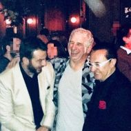 """Ο Γιώργος μαζί με τον Πέτρο Φιλιππίδη και τον Λευτέρη Πανταζή στο εστιατόριο Zonars μετά την πρεμιέρα της θεατρικής παράστασης """"Ψέμα στο ψέμα"""" - 13 Νοεμβρίου 2017 Φωτογραφία: lepa_official Instagram"""
