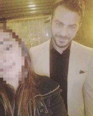 """Ο Γιώργος με φαν στο εστιατόριο Zonars μετά την πρεμιέρα της θεατρικής παράστασης """"Ψέμα στο ψέμα"""" - 13 Νοεμβρίου 2017 Φωτογραφία: marioli11 Instagram"""