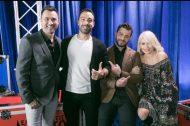 """Ο Γιώργος και η κριτική επιτροπή backstage στο """"Ελλάδα έχεις ταλέντο"""" - 14 Νοεμβρίου 2017 Φωτογραφία: ykapoutzidis Instagram"""