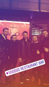 Ο Γιώργος στο Voodoo Restaurant-Bar στις 24 Νοεμβρίου 2017 Φωτογραφία: sotirislam Instagram