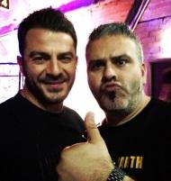 """Ο Γιώργος στα backstage της εκπομπής """"The Λούης Night Show"""" μαζί με τον Λούη - 24 Οκτωβρίου 2017 Φωτογραφία: official_danos_ga Instagram"""