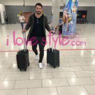 Ο Γιώργος στο αεροδρόμιο της Κύπρου όπου έφτασε για την παρουσίαση των Time Out Awards - 25 Νοεμβρίου 2017 Φωτογραφία: ilovestyle.com