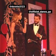 Ο Γιώργος και η Ντορέττα κατά τη διάρκεια της παρουσίασης των Time Out Eating Awards στις 28 Νοεμβρίου 2017 Φωτογραφία: famagusta.news Instagram