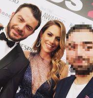 Ο Γιώργος και η Ντορέττα στο κόκκινο χαλί των Time Out Eating Awards - 28 Νοεμβρίου 2017 Φωτογραφία: georgemix13 Instagram