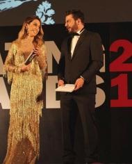 Ο Γιώργος και η Ντορέττα κατά τη διάρκεια της παρουσίασης των Time Out Eating Awards στις 28 Νοεμβρίου 2017 Φωτογραφία: ilovestylecom Instagram
