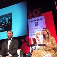 Ο Γιώργος και η Ντορέττα κατά τη διάρκεια της παρουσίασης των Time Out Eating Awards στις 28 Νοεμβρίου 2017 Φωτογραφία: maritavassiliou Instagram