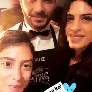 Ο Γιώργος backstage στα Time Out Eating Awards - 28 Νοεμβρίου 2017 Φωτογραφία: sof_ef Instagram
