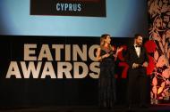 Ο Γιώργος και η Ντορέττα κατά τη διάρκεια της παρουσίασης των Time Out Eating Awards στις 28 Νοεμβρίου 2017 Φωτογραφία: timaoutcyprus.com