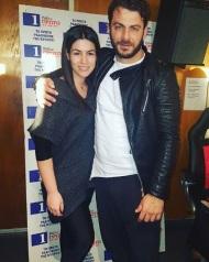 Ο Γιώργος με τη δημοσιογράφο Γεωργία Κωνσταντίνου στα στούντιο του Ράδιο Πρώτο - 29 Νοεμβρίου 2017 Φωτογραφία: georgia_constantinu Instagram