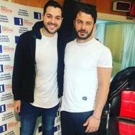 Ο Γιώργος με τον δημοσιογράφο Γιάννη Ξενοφώντος στα στούντιο του Ράδιο Πρώτο - 29 Νοεμβρίου 2017 Φωτογραφία: giannisxn Instagram