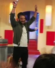 """Ο Γιώργος στο γύρισμα της σατυρικής εκπομπής """"Πρίγκιπας"""" στην Κύπρο στις 29 Νοεμβρίου 2017 Φωτογραφία: gregoreszakharias Instagram"""
