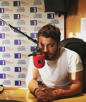 Ο Γιώργος στα στούντιο του Ράδιο Πρώτο - 29 Νοεμβρίου 2017 Φωτογραφία: radioprotocyprus Instagram