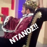 """Ο Γιώργος στο γύρισμα της σατυρικής εκπομπής """"Πρίγκιπας"""" στην Κύπρο στις 29 Νοεμβρίου 2017 Φωτογραφία: thanasis_risvanis9 Instagram"""