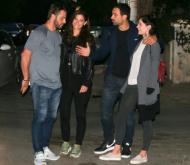 Ο Γιώργος μαζί με τον Σάκη, τη Χριστίνα και την Ελίνα σε βραδινή έξοδο στο Χαλάνδρι - 29 Οκτωβρίου 2017 Φωτογραφία: yupiii.gr