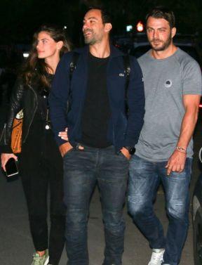 Ο Γιώργος μαζί με τον Σάκη και τη Χριστίνα σε βραδινή έξοδο στο Χαλάνδρι - 29 Οκτωβρίου 2017 Φωτογραφία: yupiii.gr
