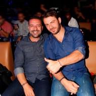 Ο Γιώργος μαζί με τον φίλο του Άκη Πάσσαρη στο Club 22 Live Stage στις 3 Νοεμβρίου 2017 Φωτογραφία: mydailynews.gr