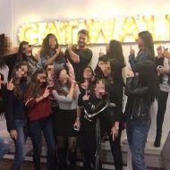 Ο Γιώργος στη σχολή της Κωνσταντίνας Ευριπίδου μαζί με της μαθήτριες της παρουσιάστριας - 30 Νοεμβρίου 2017 Φωτογραφία: cefashionworkshop Instagram