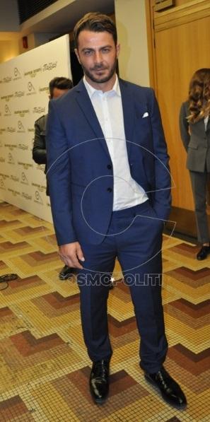 """Ο Γιώργος στην πρεμιέρα της θεατρικής παράστασης """"Μαντάμ Σουσού"""" στο Παλλάς στις 31 Οκτωβρίου 2017 Φωτογραφία: cosmopoliti"""