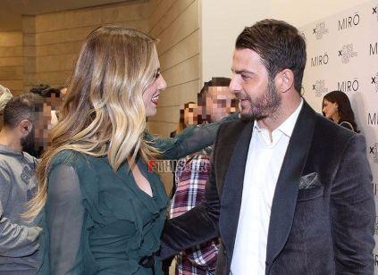 Ο Γιώργος και η Ντορέττα στην επίδειξη μόδας των Mi-ro που έγινε στο Ωδείο Αθηνών στις 5 Νοεμβρίου 2017 Φωτογραφία: fthis.gr