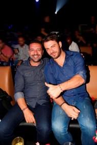 Ο Γιώργος μαζί με τον Άκη Πάσσαρη κατά την έξοδό τους στο Fantasia Live - 5 Νοεμβρίου 2017 Φωτογραφία: iciao.gr