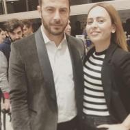 Ο Γιώργος με τη Μαρία Κοκολάκη στο Ωδείο Αθηνών όπου έγινε η επίδειξη μόδας των Mi-ro - 5 Νοεμβρίου 2017 Φωτογραφία: marykoko Instagram