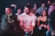 Ο Γιώργος με τον καλό του φίλο Άκη στο Fantasia Live όπου διασκέδασαν με το πρόγραμμα του Κωνσταντίνου Αργυρού Φωτογραφία: newspistol