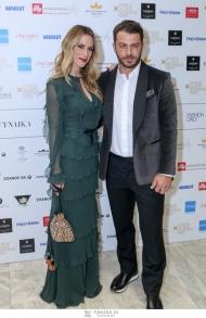 Ο Γιώργος και η Ντορέττα στην επίδειξη μόδας των Mi-ro που έγινε στο Ωδείο Αθηνών στις 5 Νοεμβρίου 2017 Φωτογραφία: Panoulis photography/iefimerida