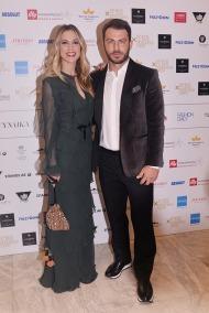 Ο Γιώργος και η Ντορέττα στην επίδειξη μόδας των Mi-ro που έγινε στο Ωδείο Αθηνών στις 5 Νοεμβρίου 2017 Φωτογραφία: Πρώτο Θέμα