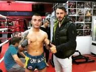 Ο Γιώργος με τον αθλητή Μαρσέλο Μάρκο στο Kritikos Camp όπου βρέθηκε για προπόνηση στις 8 Νοεμβρίου 2017 Φωτογραφία: marselomarko Instagram