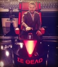 Ο Γιώργος στο στούντιο του The Voice of Greece στις 9 Νοεμβρίου 2017 Φωτογραφία: nasia_kollia Instagram