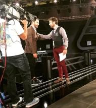 Ο Γιώργος μαζί με τον Κωστή Μαραβέγια στο στούντιο του The Voice of Greece στις 9 Νοεμβρίου 2017 Φωτογραφία: nasia_kollia Instagram