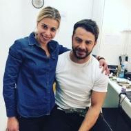 Ο Γιώργος με τη δημοσιογράφο Χαρούλα Αλέξη στα στούντιο του Sigma TV - 27 Νοεμβρίου 2017 Φωτογραφία: charoula_alexi Instagram