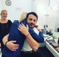 Ο Γιώργος με τη δημοσιογράφο Φρόσω Βιολάρη στα στούντιο του Sigma TV - 27 Νοεμβρίου 2017 Φωτογραφία: fro_vio Instagram