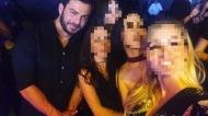 """Ο Γιώργος στο νυχτερινό κέντρο διασκέδασης """"Acro"""" όπου εμφανίζονται ο Γιώργος Σαμπάνης και ο Νίβο - 24 Νοεμβρίου 2017 Φωτογραφία: xrisast Instagram"""