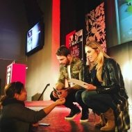 Ο Γιώργος και η Ντορέττα στις πρόβες για τα βραβεία Time Out στο Royal Hall στη Λευκωσία - 27 Νοεμβρίου 2017 Φωτογραφία: timeoutcyprus.com
