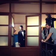 Ο Γιώργος στο γύρισμα για τα digital videos της εταιρείας NAK - 13 Δεκεμβρίου 2017 Φωτογραφία: babyblueproductions Instagram