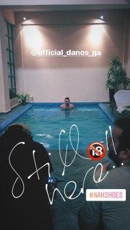 Ο Γιώργος στο γύρισμα για τα digital videos της εταιρείας NAK - 13 Δεκεμβρίου 2017 Φωτογραφία: eirini_parsa Instagram