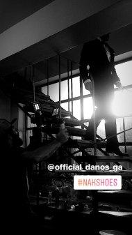 Ο Γιώργος στο γύρισμα για τα digital videos της εταιρείας NAK - 13 Δεκεμβρίου 2017 Φωτογραφία: nakshoes Instagram