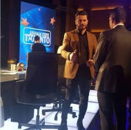 """Ο Γιώργος backstage στο """"Ελλάδα έχεις ταλέντο"""" - 14 Νοεμβρίου 2017 Φωτογραφία: danos__official__fanpage Instagram"""
