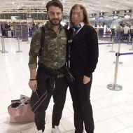 Ο Γιώργος στο αεροδρόμιο της Κύπρου πριν την επιστροφή του στην Αθήνα στις 2 Δεκεμβρίου 2017 Φωτογραφία: margaritaphilippou Instagram