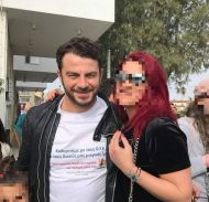 Ο Γιώργος με φαν στη φιλανθρωπική εκδήλωση για τη στήριξη οικογενειών με παιδιά που πάσχουν από κακοήθεια που έγινε στη Λεμεσό στις 23 Δεκεμβρίου 2017 Φωτογραφία: elen_homerilia Instagram