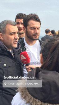 Ο Γιώργος με τον κ. Λουκά Φουρλά στη φιλανθρωπική εκδήλωση για τη στήριξη οικογενειών με παιδιά που πάσχουν από κακοήθεια που έγινε στη Λεμεσό στις 23 Δεκεμβρίου 2017 Φωτογραφία: marina_pana Instagram