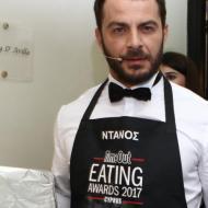 Ο Γιώργος λίγο πριν βγει για να σερβίρει Ντανοπιτάκια στους παρευρισκομένους στα Time Out Eating Awards - 28 Νοεμβρίου 2017 Φωτογραφία: timeoutcyprus.com