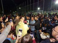 """Ο Γιώργος στο γήπεδο Εργάνης """"Δημήτρης Νικολαΐδης"""" στον Βύρωνα για τον φιλανθρωπικό αγώνα προς ενίσχυση του μικρού Παναγιώτη - 4 Δεκεμβρίου 2017 Φωτογραφία: ΠΑΟ ΔΟΞΑ ΒΥΡΩΝΟΣ Facebook"""
