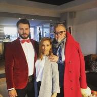 Ο Γιώργος στο ατελιέ του Νίκου Αποστολόπουλου στις 4 Δεκεμβρίου 2017 Φωτογραφία: elena_gerarhaki Instagram