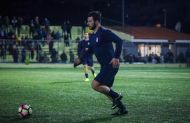 """Ο Γιώργος στο γήπεδο Εργάνης """"Δημήτρης Νικολαΐδης"""" στον Βύρωνα για τον φιλανθρωπικό αγώνα προς ενίσχυση του μικρού Παναγιώτη - 4 Δεκεμβρίου 2017 Φωτογραφία: eurokinissi"""