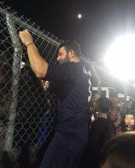 """Ο Γιώργος στο γήπεδο Εργάνης """"Δημήτρης Νικολαΐδης"""" στον Βύρωνα για τον φιλανθρωπικό αγώνα προς ενίσχυση του μικρού Παναγιώτη - 4 Δεκεμβρίου 2017 Φωτογραφία: marita_passari Instagram"""