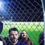 """Ο Γιώργος στο γήπεδο Εργάνης """"Δημήτρης Νικολαΐδης"""" στον Βύρωνα για τον φιλανθρωπικό αγώνα προς ενίσχυση του μικρού Παναγιώτη - 4 Δεκεμβρίου 2017 Φωτογραφία: mikarompoti Instagram"""
