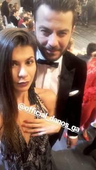 """Ο Γιώργος μαζί με την Ειρήνη Φούσκα Τσαπαλιάρη στην εκπομπή """"Στην υγειά μας βρε παιδιά"""" - 5 Δεκεμβρίου 2017 Φωτογραφία: miss_fouska Instagram"""